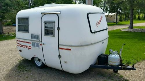 We Are Offering For Sale A 13 Scamp Camping Trailer This Camper Can Sleep Four People Has Propane Furnace Air Conditioning And 3 Way Refrigerator