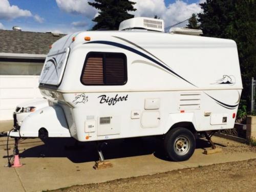 sold 2003 17 39 bigfoot travel trailer 11900 edmonton ab canada fiberglass rv 39 s for sale. Black Bedroom Furniture Sets. Home Design Ideas