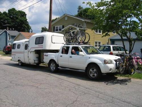 SOLD - 1988 19' Scamp 5th Wheel and Nissan Frontier ...