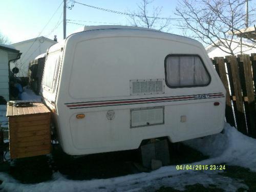 sold 13 39 cadet travel trailer 3500 sault ste marie on canada fiberglass rv 39 s for sale. Black Bedroom Furniture Sets. Home Design Ideas