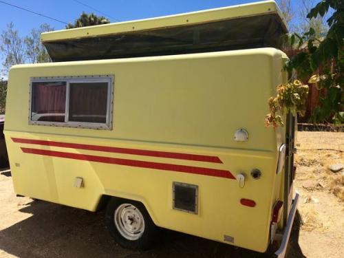 Sold 1971 Hunter Compact Junior Fiberglass Camper 4200 Yucca Valley Ca Fiberglass Rv S