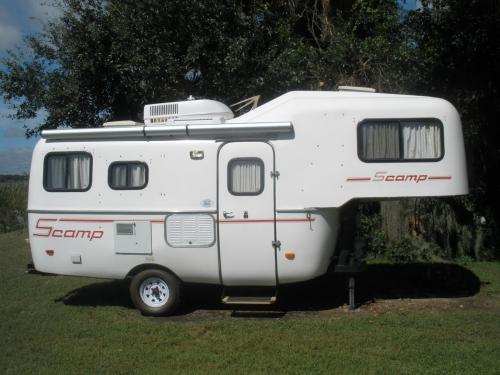 SOLD 2008 19' Scamp 5th Wheel Layout B - $12,000. - Leesburg FL | Fiberglass RV's For Sale